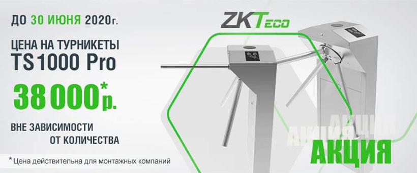 Турникет ZKTeco TS1000 Pro по специальной цене!