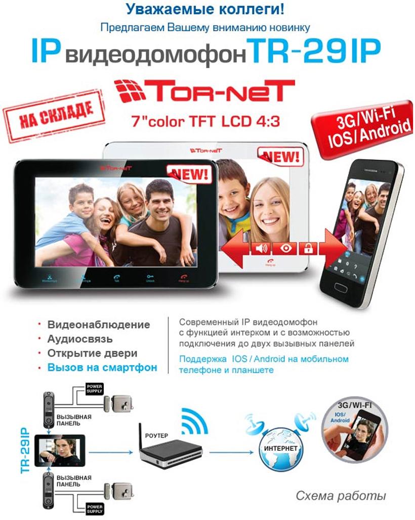 Новинка! IP видеодомофон Tornet TR-29IP